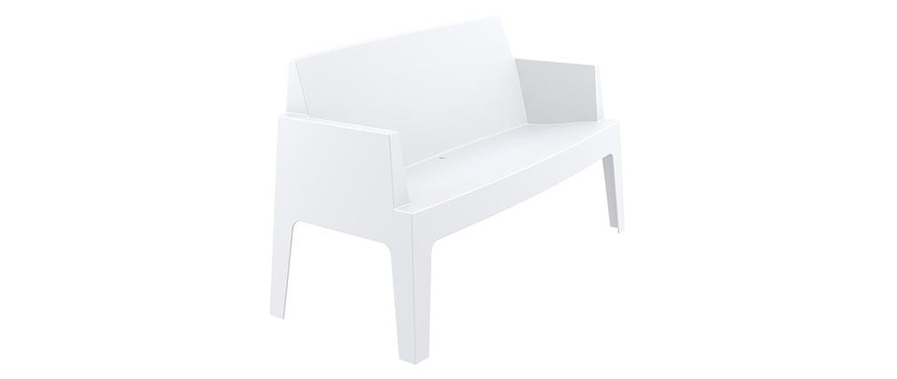 Banc de jardin design blanc LALI