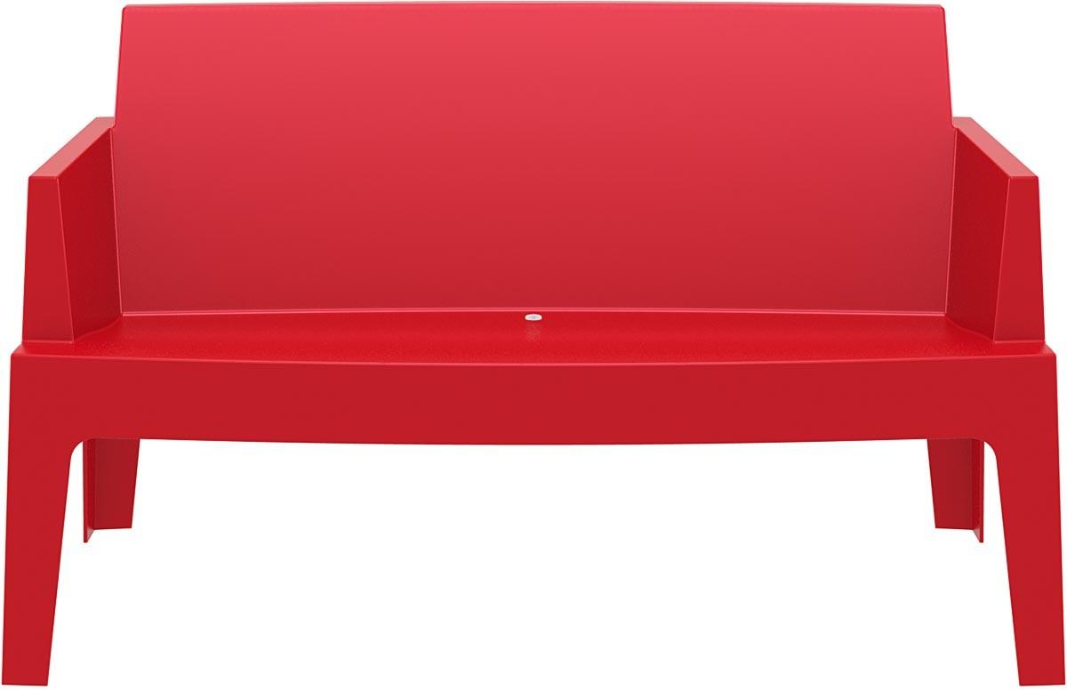Banc de jardin design rouge lali miliboo - Mobilier jardin rouge besancon ...