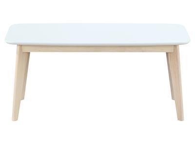 Banc design 100cm blanc et bois LEENA