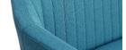 Banquette scandinave 2 places bleu canard ALEYNA