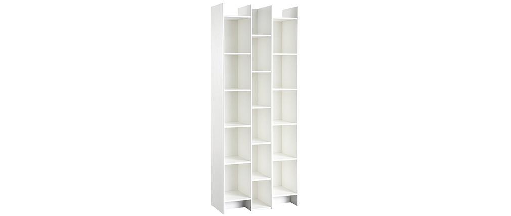 Bibliothèque design bois blanc CLIMB