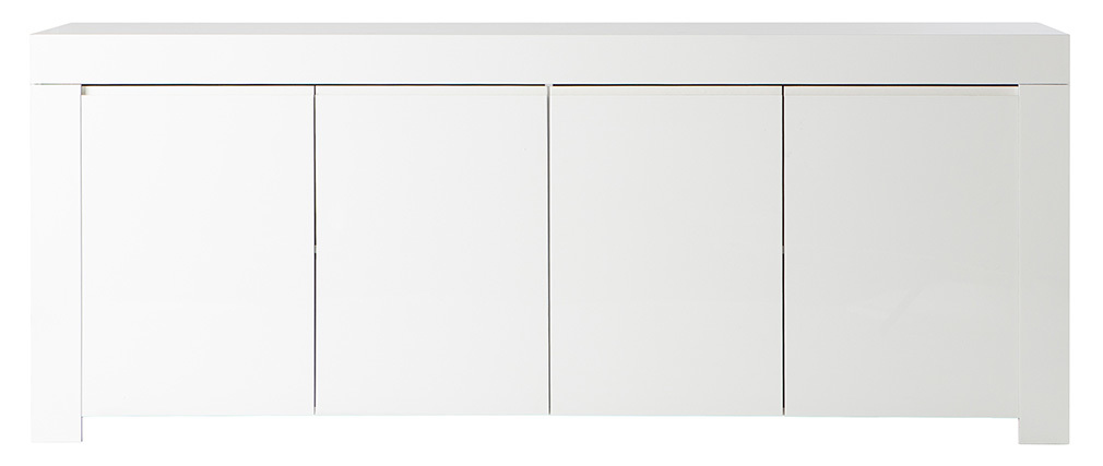 Buffet design 4 portes laqué blanc ERIA