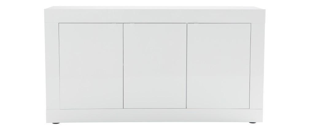 Buffet design laqué blanc 160 cm LATTE