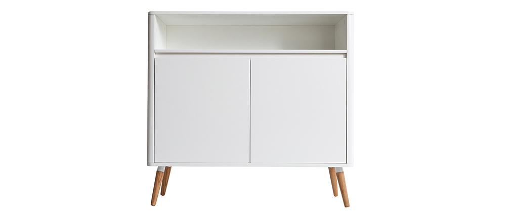 Buffet design scandinave blanc et bois TOTEM