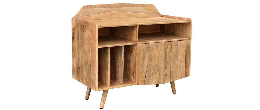 Buffet meuble de rangement vinyles en manguier massif MATAHARI