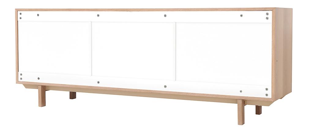 Buffet scandinave bois et blanc 195cm SID