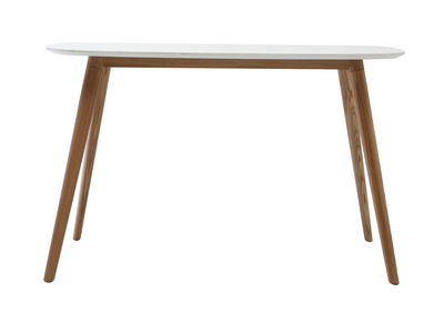 Bureau design 120 cm bois et blanc SWIFT