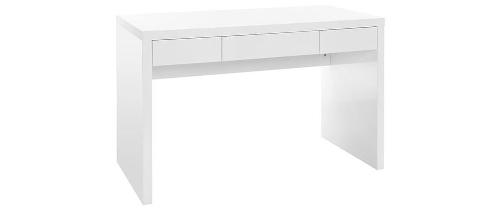 Bureau design blanc laqué LACY