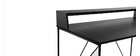 Bureau design métal gris et noir WALT