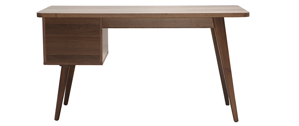Bureau design noyer L140 cm FIFTIES