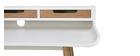 Bureau scandinave bois blanc avec rangements OPUS