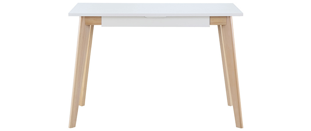 Bureau scandinave bois blanc LEENA