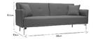 Canapé convertible design 3 places gris clair ELIN