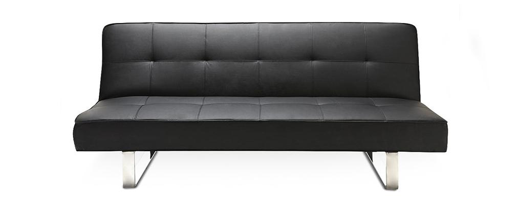 Canapé convertible design noir CHARLESTON