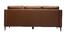 Canapé cuir design 3 places marron OXMO - cuir de buffle
