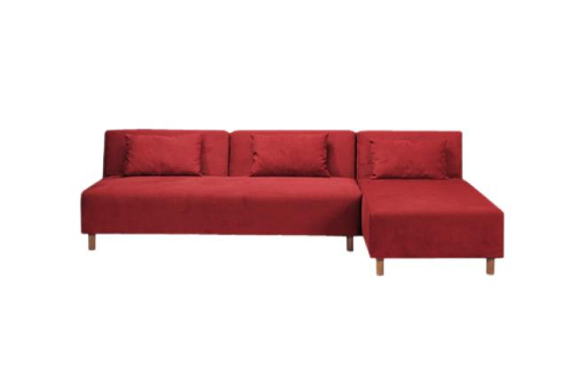 Canapé dangle convertible rouge tissu microfibre Houston