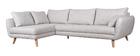 Canapé d'angle gauche scandinave 5 places gris clair chiné CREEP