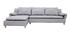 Canapé d'angle réversible design gris clair BRASILIA