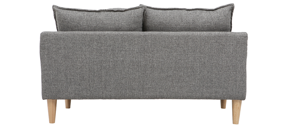 Canapé design 2 places gris KATE