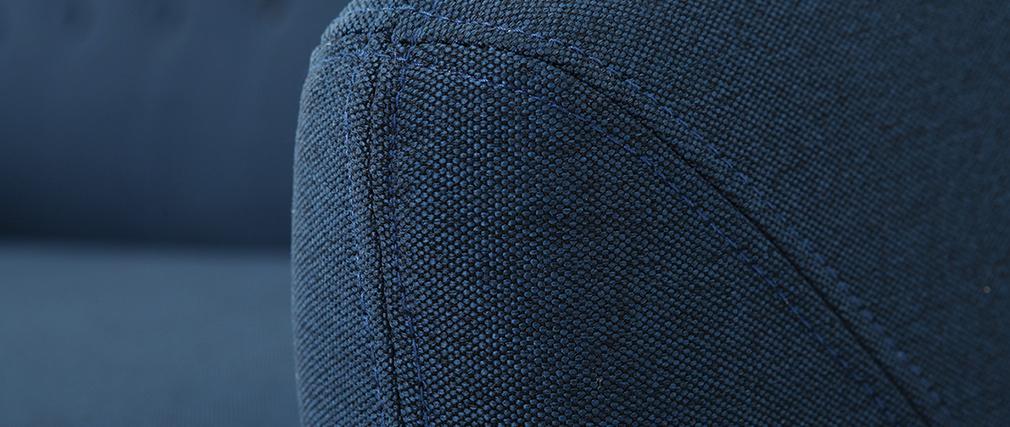 Canapé design 3 places déhoussable bleu YNOK
