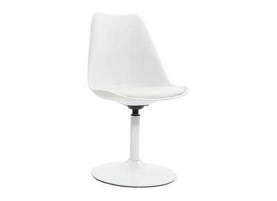 Chaise blanc mat pivotante STEEVY V2