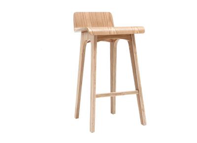 Chaise de bar en bois - 65 cm - Scandinave- BALTIK