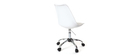 Chaise de bureau design blanche NEW STEEVY