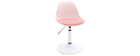 Chaise de bureau design enfant rose STEEVY