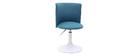 Chaise de bureau enfant bleu canard et blanche NEW MARCHANDE