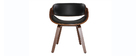 Chaise design noir et bois foncé BENT
