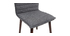 Chaise design tissu gris anthracite pieds bois foncé (lot de 2) IZAL