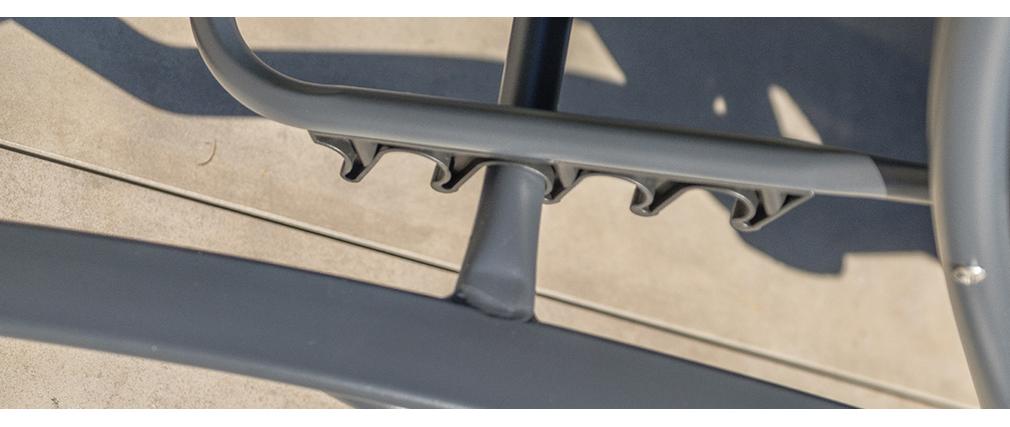 Chaise longue design grise SIERRA