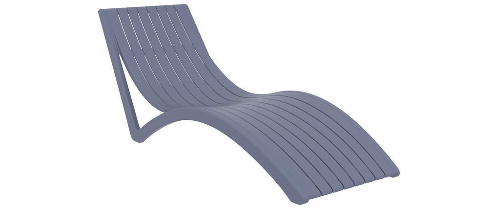 Chaise longue design grise SLIDO
