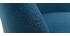 Chaise scandinave en tissu bleu canard avec pieds bois clair LIV