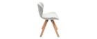 Chaise scandinave en tissu gris et bois clair ANYA