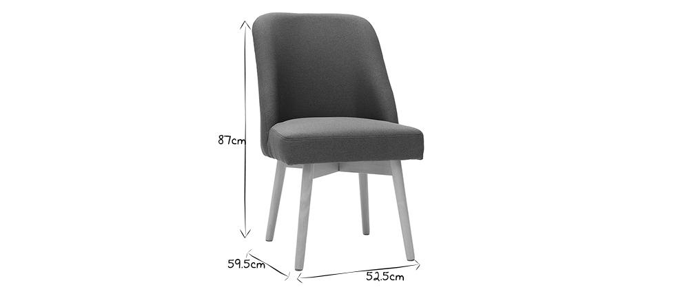 Chaise scandinave en tissu kaki LIV - Miliboo & Stéphane Plaza