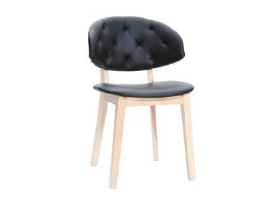Chaise simili cuir noir SOFFY
