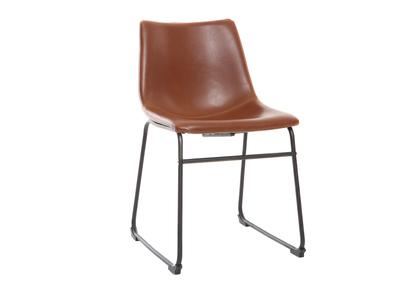 Chaise vintage PU marron clair NEW ROCK