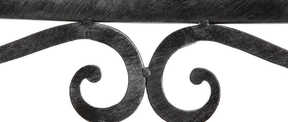 Chaises baroques noires métal (lot de 2) VENEZIA