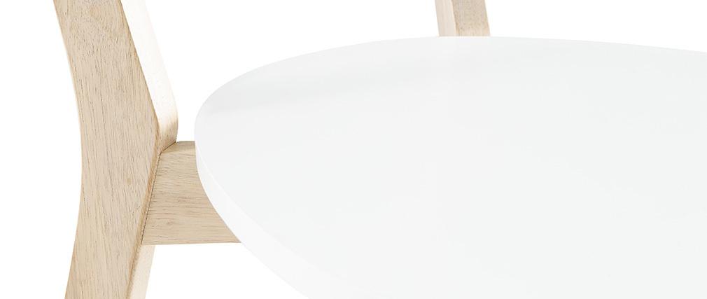 Chaises design bois et blanc (lot de 2) LEENA