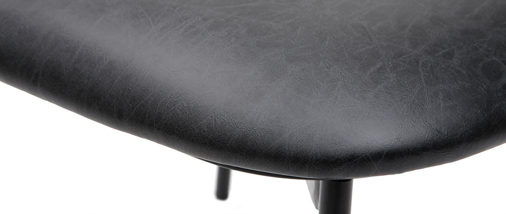 Chaises design en métal noir avec coussin (lot de 2) GRID