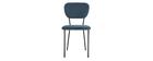 Chaises design en velours bleu et structure en métal noir (lot de 2) LEPIDUS