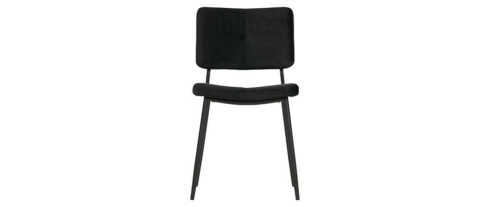 Chaises design en velours noir (lot de 2) GAB