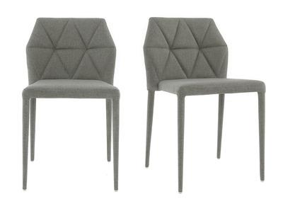 Chaises design gris clair lot de 2 KARLA