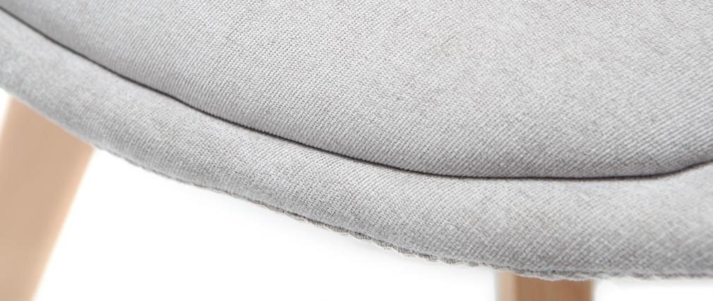 Chaises design scandinave bois et tissu gris clair (lot de 2) MATILDE