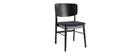 Chaises en bois noir et tissu gris foncé (lot de 2) SHELDON