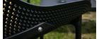 Chaises lounge empilables noires intérieur / extérieur (lot de 4) OSKOL