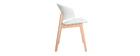 Chaises scandinaves blanc et bois clair (lot de 2) BLOEM - Miliboo & Stéphane Plaza