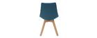 Chaises scandinaves en tissu bleu canard (lot de 2) MATILDE - Miliboo & Stéphane Plaza