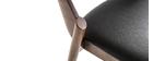 Chaises vintage noyer et noir (lot de 2) AVALON